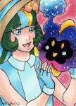 ACEO PokeMarie and Cosmog by nickyflamingo