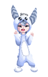 bunny onesie by loveart56