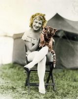 Blonde Lady with Tiger* by Thelema001