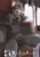 On His throne chilling by RifTheBit