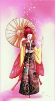 Aiki - geisha fairy in pini by jkrolak