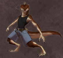 Tes the Greaselizard by Triple-Torch-Art
