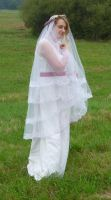 bride on a field 4 by indeed-stock