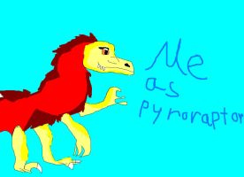 me as pyroraptor by wolfwrathgirl