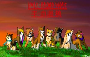 Half-Blood Wolf Poster by Forest-shrine-wolf