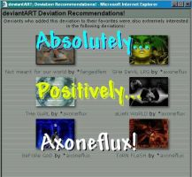 Definately Axoneflux by aristocrat