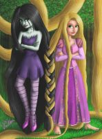 Marceline and Rapunzel the Braid by Vanthica