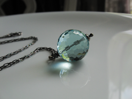 Aqua Blue Orb Necklace by mrskupe