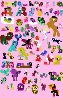 95 PONY ADOPTABLES!  ON HOLD. by MoBAdopts