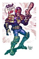 Dredd sketch by zsabreuser