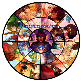 Art Wheel by KnightingaleSong