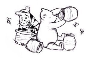 Pooh and Tigger Classic Style by erinbann