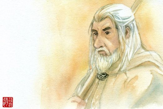 Gandalf the white wizard by zhaoliaoyuan