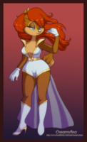Princess Sally Acorn Redesign by FACreamyTea