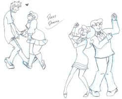 Scooby couples: Dorky dancing by brensey