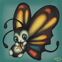 Pokemon Advent Challenge Day 7-Beautifly by Mokka-Quill