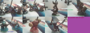 All my skylanders figurines in element categories by WILFRE-IS-AWESOME