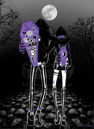 Spooky scary skeletons by KoffinKorps