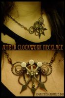 Amber Clockwork Necklace by JynxsBox
