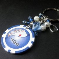 Blue Poker Chip Lucky Charm by Gilliauna