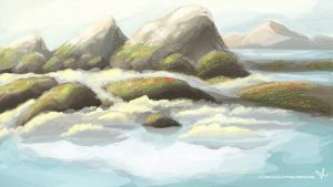 The Misty Hills of Morning by Elymnesis