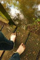 Barefoot river walk 3 by PhilsPictures