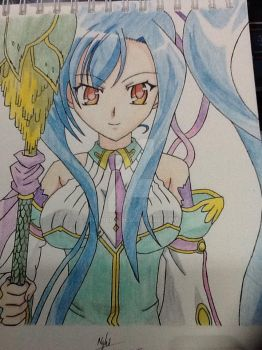 Kan'u (Koihime Musou) Redraw with Colors by Nghiluu