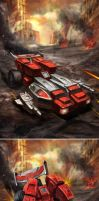 TRANSFORMERS LEGENDS: Fastlane by manbu1977