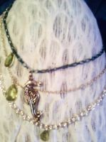 mermaid seahorse necklace by free-bubbles