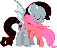 Oni Bloom - Pony Hugs by Creshosk