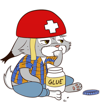 Pascal eating Glue by gfcwfzkm