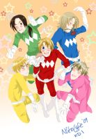 Hetalia G5 Allies Ranger Force by NiteLyfe