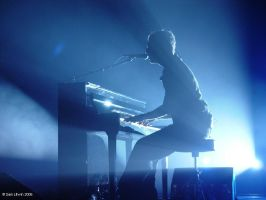 Chris Martin of Coldplay by Sam-Litwin