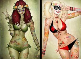 Hippie Ivy and Harley by Nszerdy