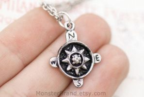 Compass Necklace by MonsterBrandCrafts