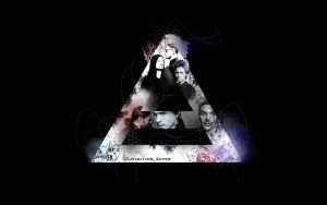 Grungy Triad Wallpaper by lovelives4ever
