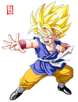 Dragon Ball GT SSJ Kid Goku by SnaKou