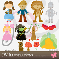 Wizard of OZ Clipart by jdDoodles