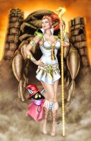 Comishart's Teela - Colors by TracyWong