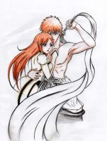 I will protect you: IchiHime by MewIly