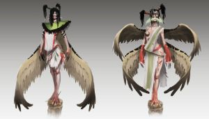 Harpy concepts by orochi-spawn
