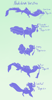 Nudidrak Varieties+info for them by The-Monster-Shop