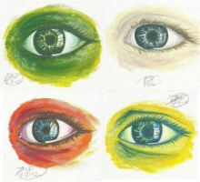 Eye Practice Painting Collage by RoomsInTheWalls