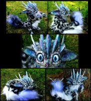 SOLD Posable Snow leopard Dragon by Wood-Splitter-Lee
