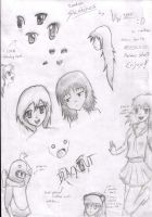 Random Anime Sketches-1 by Vivi1995