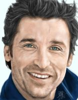 IPad finger painting of Patrick Dempsey by chaseroflight
