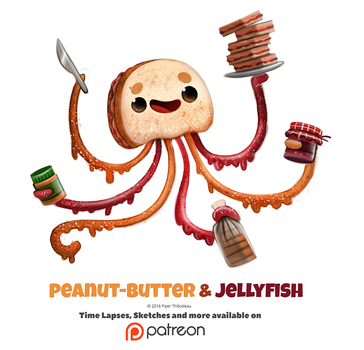Daily 1348. Peanut-Butter and Jellyfish by Cryptid-Creations