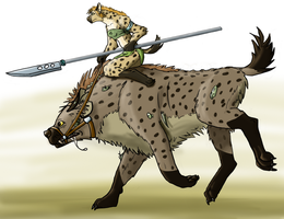 Mutant hyena rider by PyroTeamkill