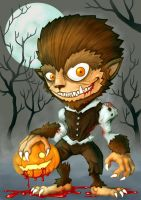 Wolfman Halloween by polawat