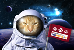 Game my cat in the Space by ECVcm